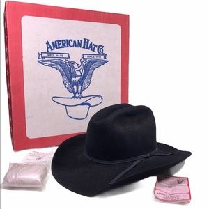 American Hat Co. Black Felt Hat